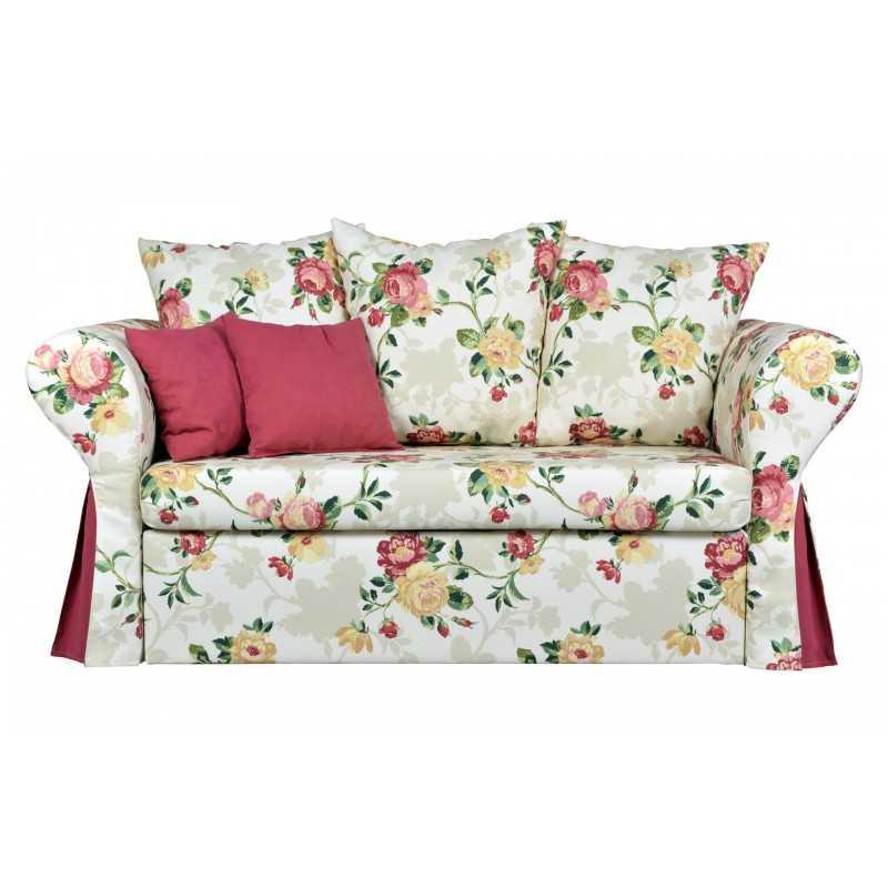 Sofa dwuosobowa rozkładana do salonu ELIZABETH'S FLOWERS