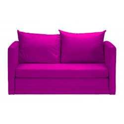 Różowa sofa z funkcją...