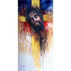 Złoty krzyż - 50x100