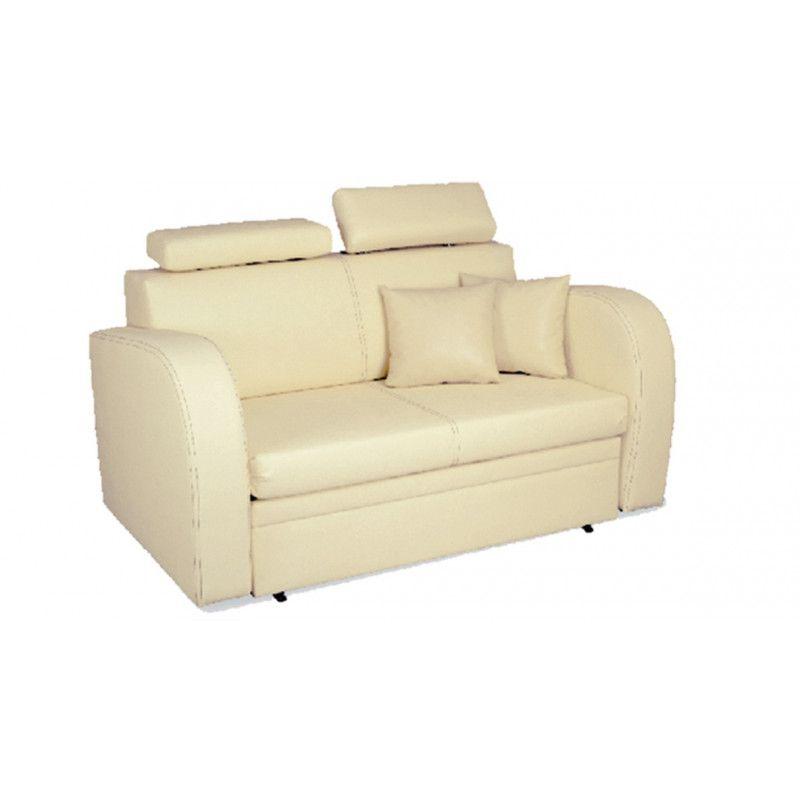Sofa trzyosobowa z funkcją spania do salonu MIRA regulowane zagłówki