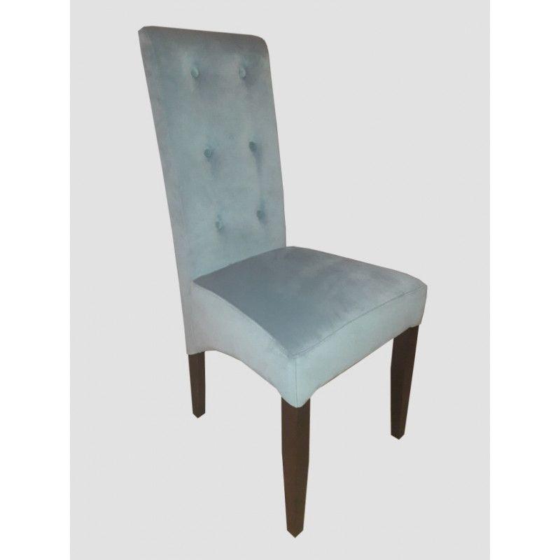 Krzesło tapicerowane z 6 guzikami Kamil skos - 1