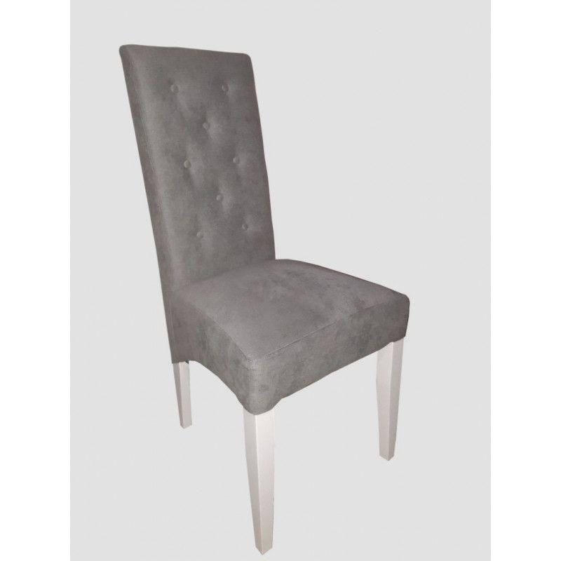 Krzesło tapicerowane z 8 guzikami Kamil skos - 1