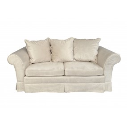 Jasnobeżowa sofa dwusobowa...