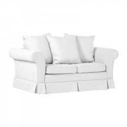 Biała sofa dwuosobowa...