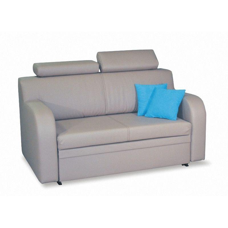 Sofa dwuosobowa rozkładana MELODY (regulowane zagłówki)