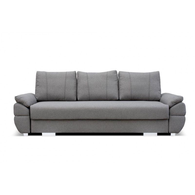 Sofa z funkcją spania i pojemnikiem na pościel BAZYL